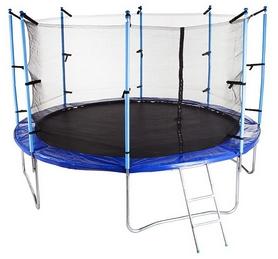 Батут с внутренней сеткой Hop-Sport 12ft синий, 366 см