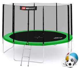 Батут с внешней сеткой Hop-Sport 12ft зеленый, 366 см