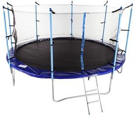 Батут с внутренней сеткой Hop-Sport 14ft синий, 427 см
