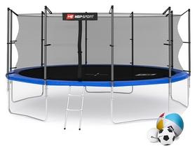 Батут с внутренней сеткой Hop-Sport 16ft синий, 488 см