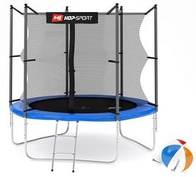 Батут с внутренней сеткой Hop-Sport 8ft синий, 244 см