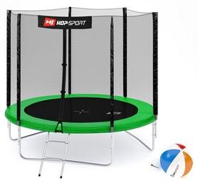 Батут с внешней сеткой Hop-Sport 8ft зеленый, 244 см