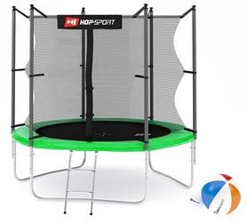 Батут с внутренней сеткой Hop-Sport 8ft зеленый, 244 см