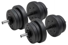 Гантели наборные композитные Hop-Sport Trex Sport, 2 шт по 10 кг