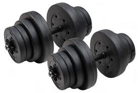Гантели наборные композитные Hop-Sport Trex Sport, 2 шт по 20 кг