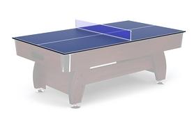 Накладка на бильярдный/теннисный стол Hop-Sport - вишневая, 8 футов