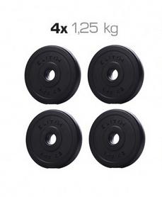 Набор дисков композитных Elitum Titan A, 5 кг (4 шт по 1,25 кг)
