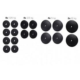 Набор дисков композитных Elitum Titan A, 60 кг (8 шт по 1,25 кг, 8 шт по 2,5 кг, 6 шт по 5 кг)