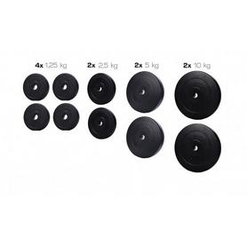 Набор дисков композитных Elitum Titan С, 40 кг (4 шт пo 1,25 кг, 2 шт пo 2,5 кг, 2 шт пo 5 кг, 2 шт пo 10 кг)