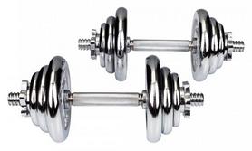 Гантели наборные хромированные Hop-Sport, 2 шт по 10 кг