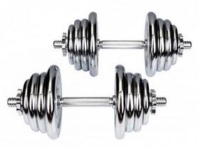 Гантели наборные хромированные Hop-Sport, 2 шт по 20 кг