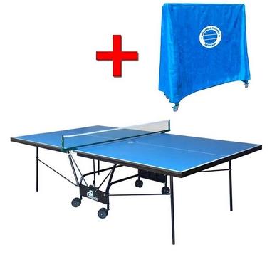 Стол теннисный складной для помещений Gk-5 синий + подарок