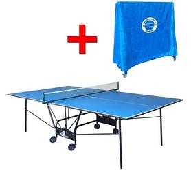 Стол теннисный складной для помещений Gp-4 зеленый + подарок