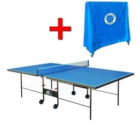 Стол теннисный складной для помещений Gk-3 синий + подарок
