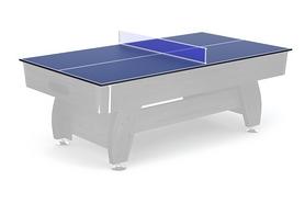Накладка на бильярдный/теннисный стол Hop-Sport - черная, 8 футов