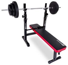 Скамья для жима Hop-Sport HS-1080 + набор Strong, 129 кг