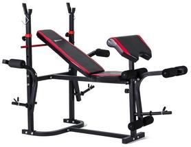 Скамья для жима Hop-Sport HS-1020 + набор Strong, 55 кг