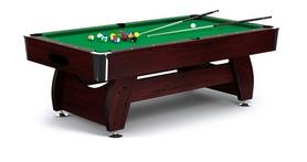 Стол бильярдный Hop-Sport VIP Extra 7 футов вишнево-зеленый + комплект для игры