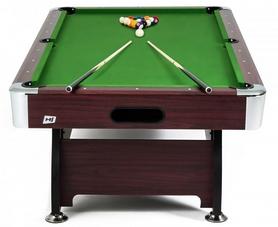 Стол бильярдный Hop-Sport VIP Extra 7 футов вишневый + комплект для игры