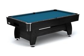 Стол бильярдный Hop-Sport VIP Extra 8 футов черно-синий + комплект для игры