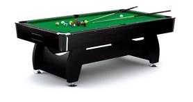 Стол бильярдный Hop-Sport VIP Extra 8 футов черно-зеленый + комплект для игры