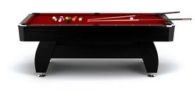Стол бильярдный Hop-Sport VIP Extra 8 футов черно-красный + комплект для игры