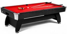Стол бильярдный Hop-Sport VIP Extra 8 футов черно-красный с каменной плитой