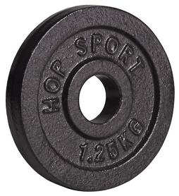 Диск стальной Hop-Sport - 31 мм, 1,25 кг - Фото №2