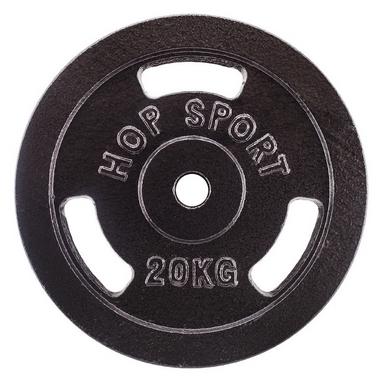 Диск стальной Hop-Sport - 31 мм, 20 кг