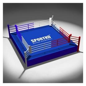 Ринг боксерский клубный Sportko (канаты - 3,5х3,5 м), 4,5х4,5х0,6 м