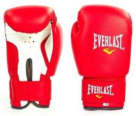 Фото 1 к товару Перчатки боксерские Everlast Юниор MA, красные (MA-0033-R)