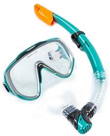 Набор для плавания детский ZLT M167-SN124-SIL-GR (маска + трубка) - серый