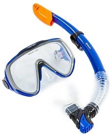 Набор для плавания ZLT M167-SN124-SIL-BL (маска + трубка) - синий