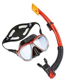 Набор для плавания взрослый ZLT M208-SN120-SIL-RD (маска + трубка) - красный
