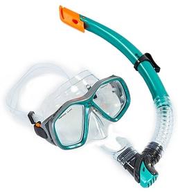Набор для плавания ZLT M276-SN120-PVC-GR (маска + трубка) - зеленый