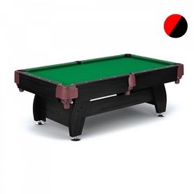 Стол бильярдный Hop-Sport VIP Extra 9 футов черно-красный с сетками