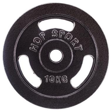 Диск стальной Hop-Sport - 31 мм, 10 кг
