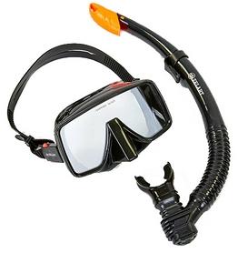 Распродажа*! Набор для плавания ZLT M109-SN50-4-SIL (маска + трубка) - черный