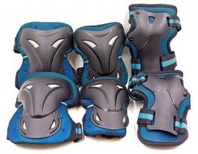 Защита для катания (наколенники, налокотники, перчатки) Kepai, синяя