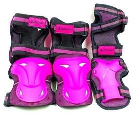 Защита детская для катания (наколенники, налокотники, перчатки) Kepai, розовая