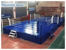 Ринг боксерский Олимпийский Sportko (канаты - 6,1х6,1 м), 7,8х7,8х1 м