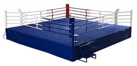 Ринг боксерский профессиональный Sportko (канаты - 6,1х6,1 м), 7х7х1 м