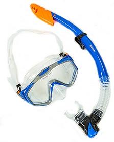 Набор для плавания M153-SN124-PVC-BL (маска + трубка) - синий