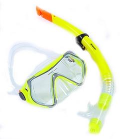 Набор для плавания детский ZLT M166-SN52-PVC-YL (маска + трубка) - желтый