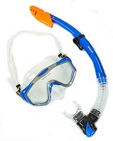 Набор для плавания взрослый ZLT M171-SN132-1-SIL-BL (маска + трубка) - синий