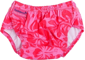 Трусики для плавания Konfidence Aquanappies Pink Hibiscus Flower