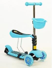 Самокат детский с наклоном руля Speed Micro Mini с сиденьем 3 в 1 C-0332-BL голубой
