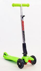 Самокат детский трехколесный с наклоном руля Speed Micro Maxi C-4310-LG зеленый