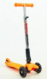 Самокат детский трехколесный с наклоном руля Speed Micro Maxi C-4310-OR оранжевый