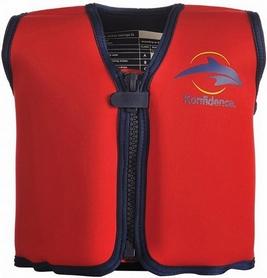 Жилет плавательный Original Konfidence Jacket Scoot красный/желтый (KJ01)